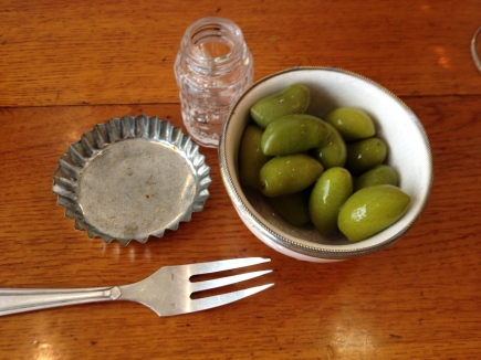 eclectic serving dishes at La Buvette