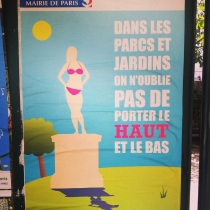 Keep your tops on poster in paris