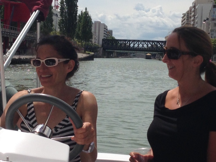 boating from Paris to Pantin