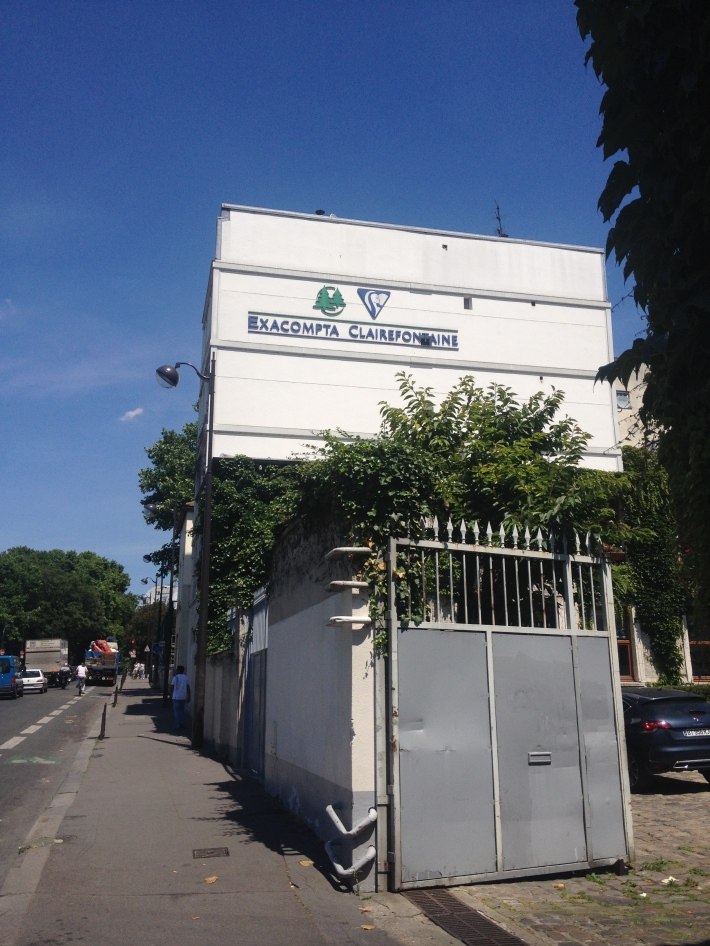 Clairefontaine notebook factory in Paris